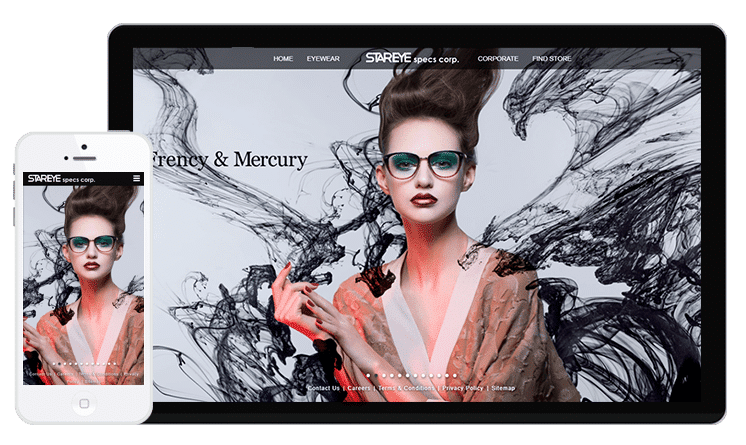 Stareye Specs Web Design