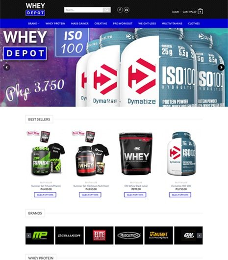 Whey Depot Site Preview