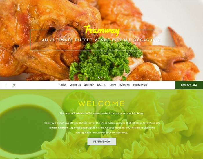 Tramway Buffet Site Preview