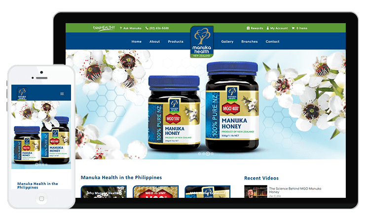 Manuka Health Web Design