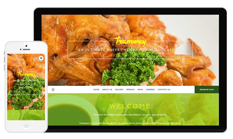 Tramway Buffet Web Design