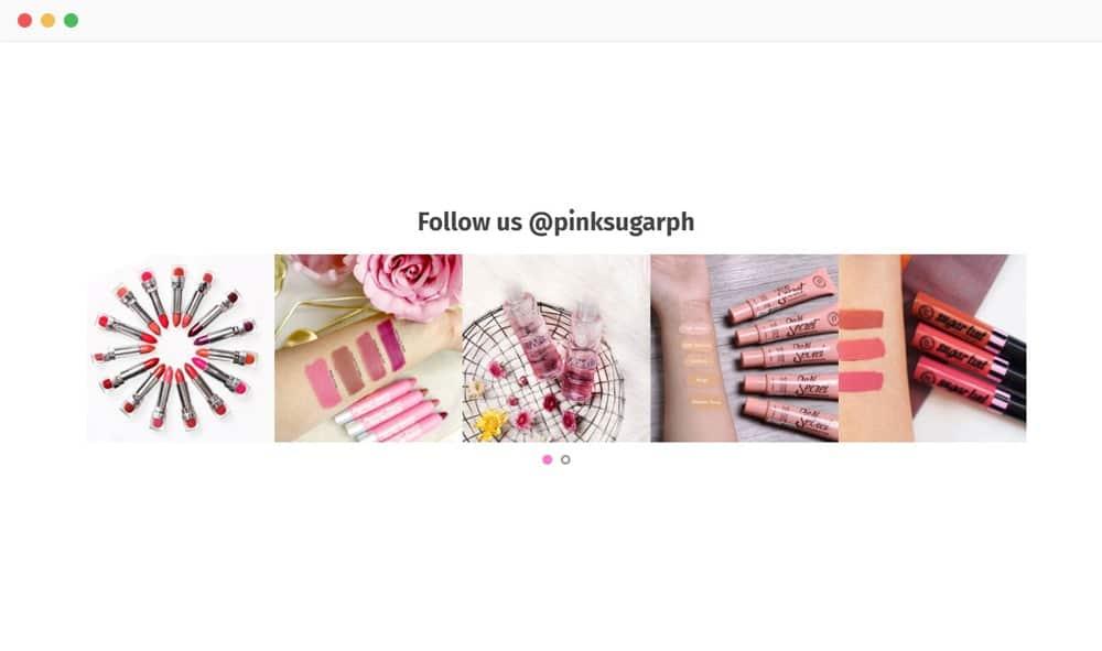 Pink Sugar Instagram Feed
