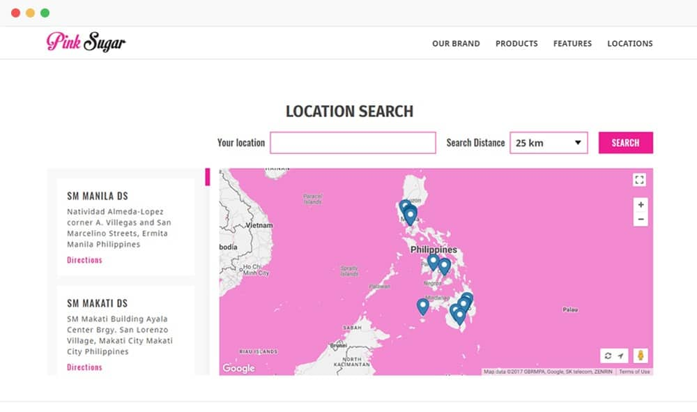 Pink Sugar Store Locator