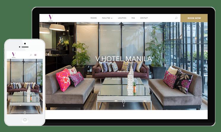 VHotel Manila Web Design