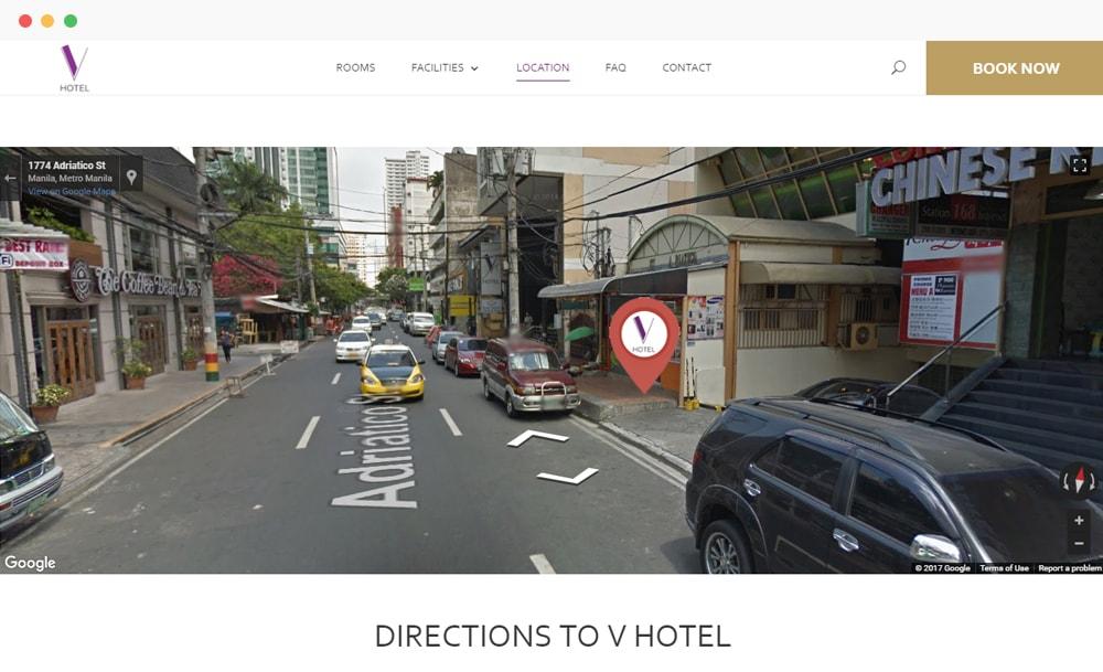 V Hotel Manila Google Map