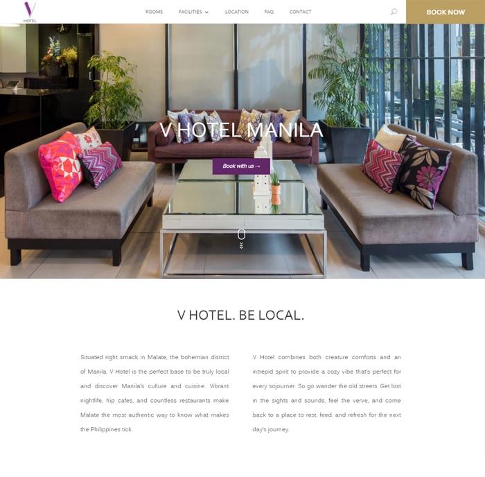 V Hotel Manila Site Preview