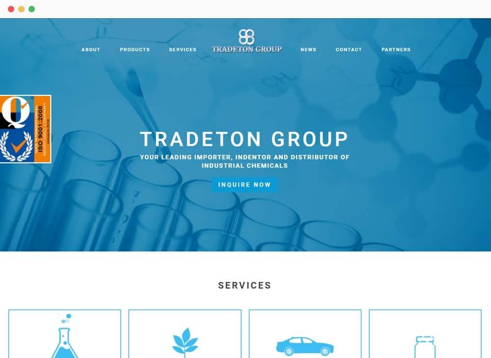 Tradeton Site Preview