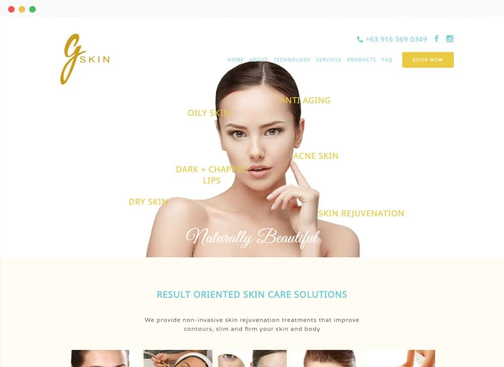 GSkin Clinic Site Preview
