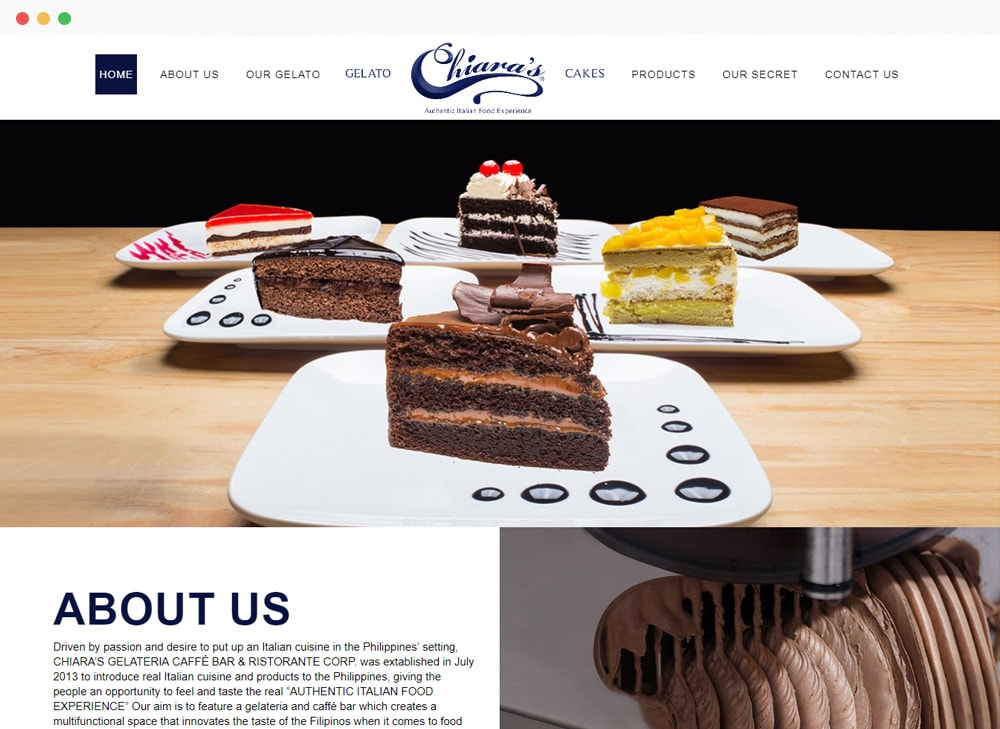 Chiaras Pastry Site Preview