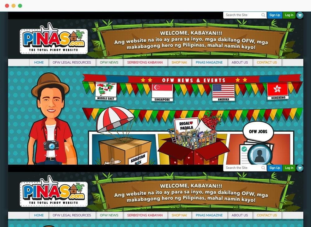 Pinas.com Site Preview