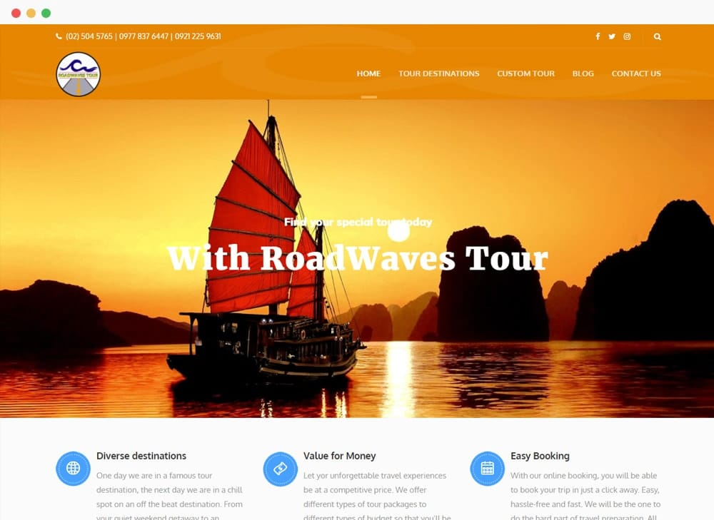 Road Waves Tour Site Preview