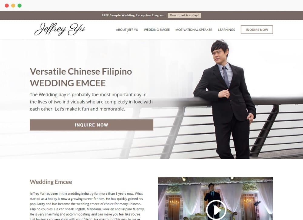 Jeffrey Yu Site Preview